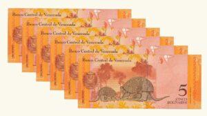 Venezuela 5 Bolívares Fuertes, Mar-20-2007, Serie Completa (A8, B8, C8, D8, E8,Z8) UNC