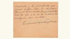 VENEZUELA, Tarjeta de Presentación Presidencial, Gral. Juan Vicente Gómez, Dirigida al Sr. José M. Planchart, Mayo-30-1912