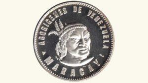 """VENEZUELA Medalla Serie Aborígenes De Venezuela """"Cacique Maracay"""" 1959 AU"""