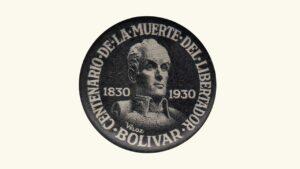 VENEZUELA, Pin Conmemorativo Centenario De La Muerte Del Libertador Simón Bolívar, 1830-1930