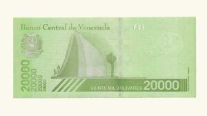Venezuela 20000 Bolívares Soberanos, Enero-22-2019, Serie A8, UNC (CAPICUA)