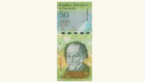 Venezuela 50 Bolívares Fuertes, Ene-31-2012, Serie S8 UNC