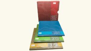 VENEZUELA Set de Acuñaciones 2001-2002-2004 (Estuche Protocolar B.C.V.)