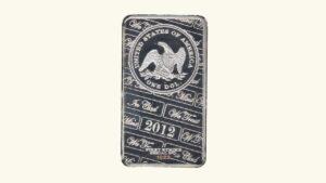 EE.UU, Lingote De1 Onza De Plata Pura World Treasures Mint 2012 AU
