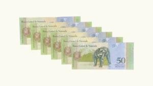 Venezuela 50 Bolívares Fuertes, Sep-3-2009, Serie Completa (G8, H8, J8, K8, z8, Z8) UNC (Las 2 variantes de las Reposiciones)