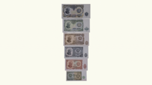 BULGARIA, SET de 6 Billetes (3-10-25-50-100-200 LEVAS), 1951 AU+/UNC
