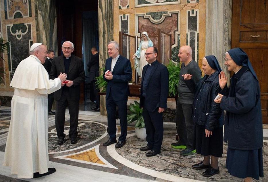 Papa Francesco e superiori vincenziani