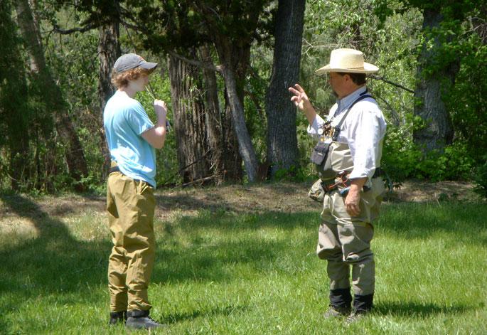 Fly casting lesson at santa fe fly fishing school