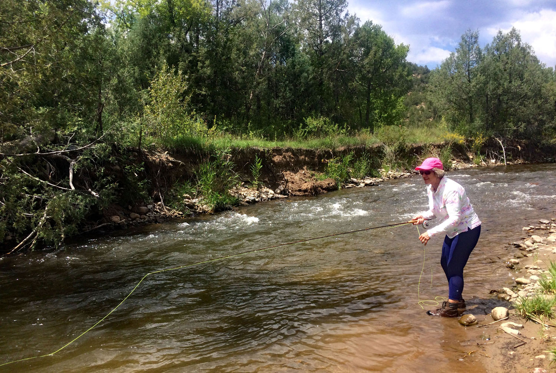Fly fishing lessons at Santa Fe Fly Fishing School