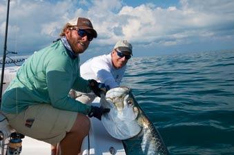 Key West backcountry fishing tarpon