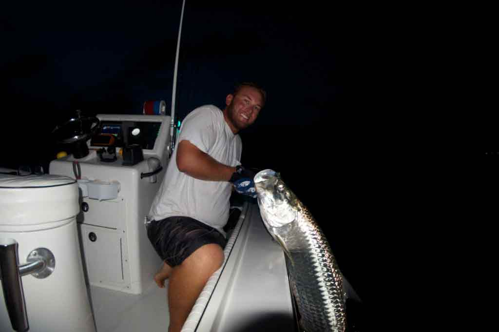 Night tarpon fishing with Capt. Kyle