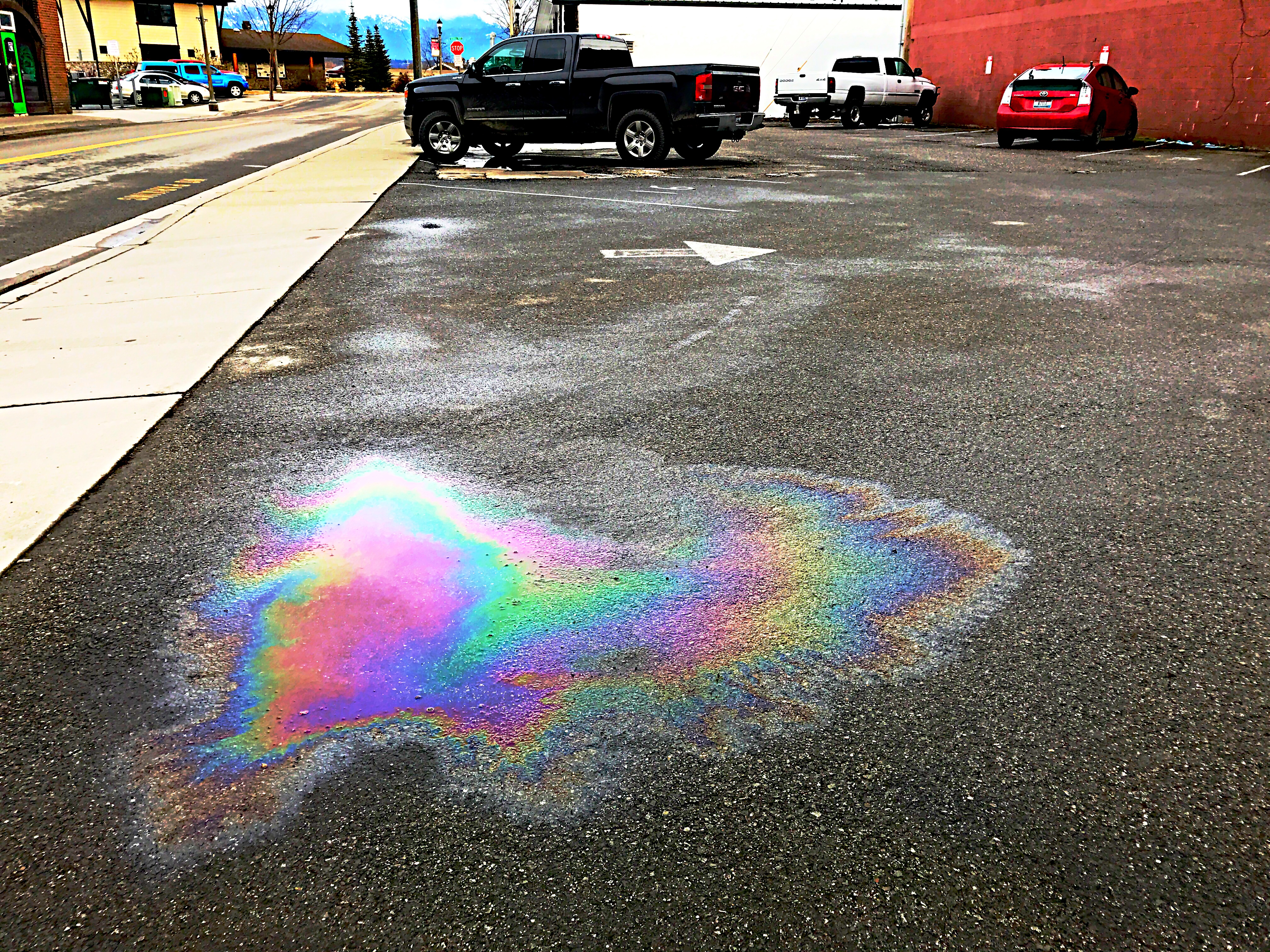 Parking lot Staining