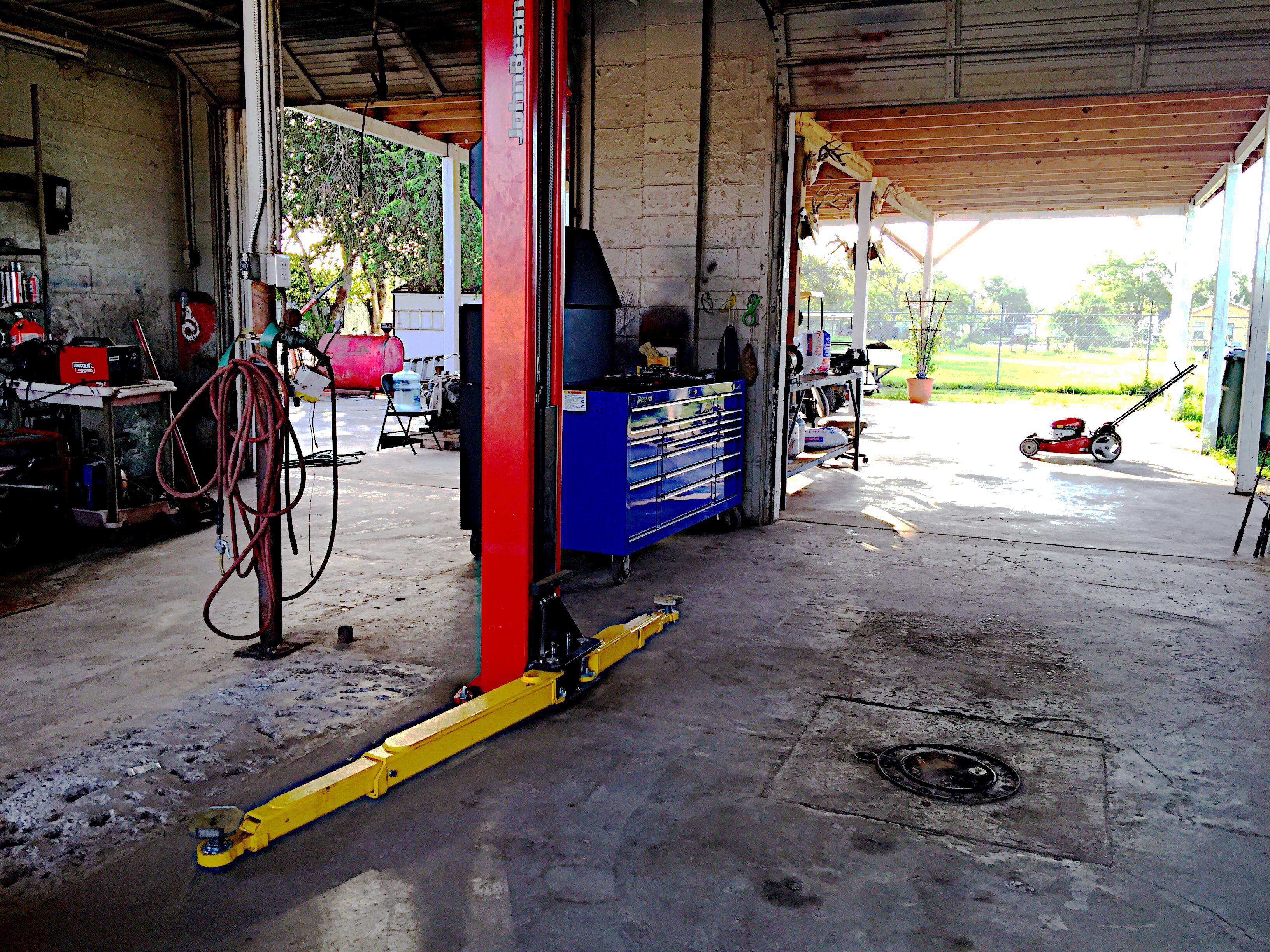 Inside Auto Repair Facility