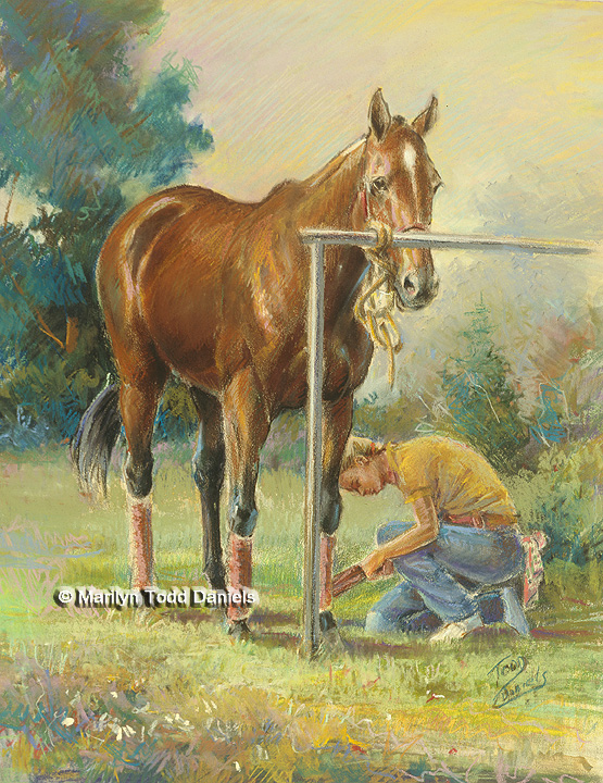 'Getting Ready with Polo Wraps' by Todd-Daniels | Woodsong Institute
