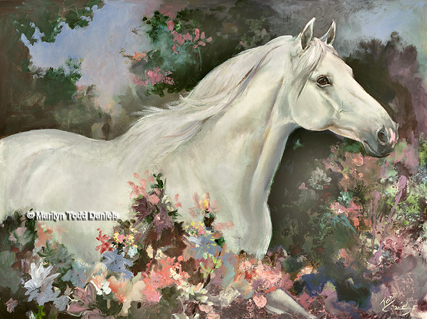 'Lipizzaner Spring' by Todd-Daniels   Woodsong Institute
