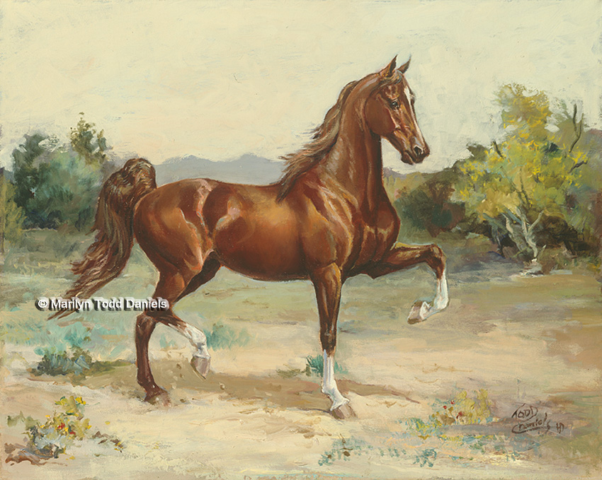 'Scottsdale Saddlebred' by Todd-Daniels | Woodsong Institute