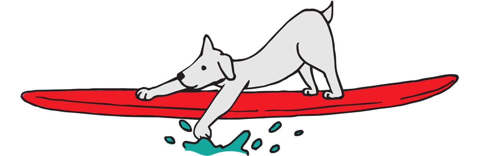 Downward facing dog water dog