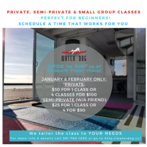 Private Yoga classes at Water Dog