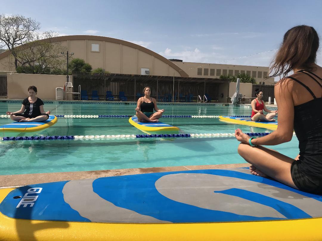 Water Dog CC Pool SUP YOga