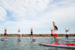 Water Dog Floating Yoga SUP Yoga class