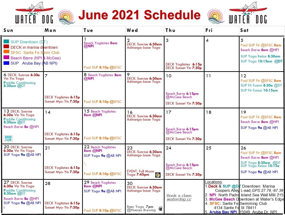 6 Jun 2021 Calendar AB