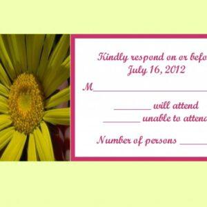Daisy Response Card