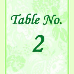 Garden Table Card 4x5