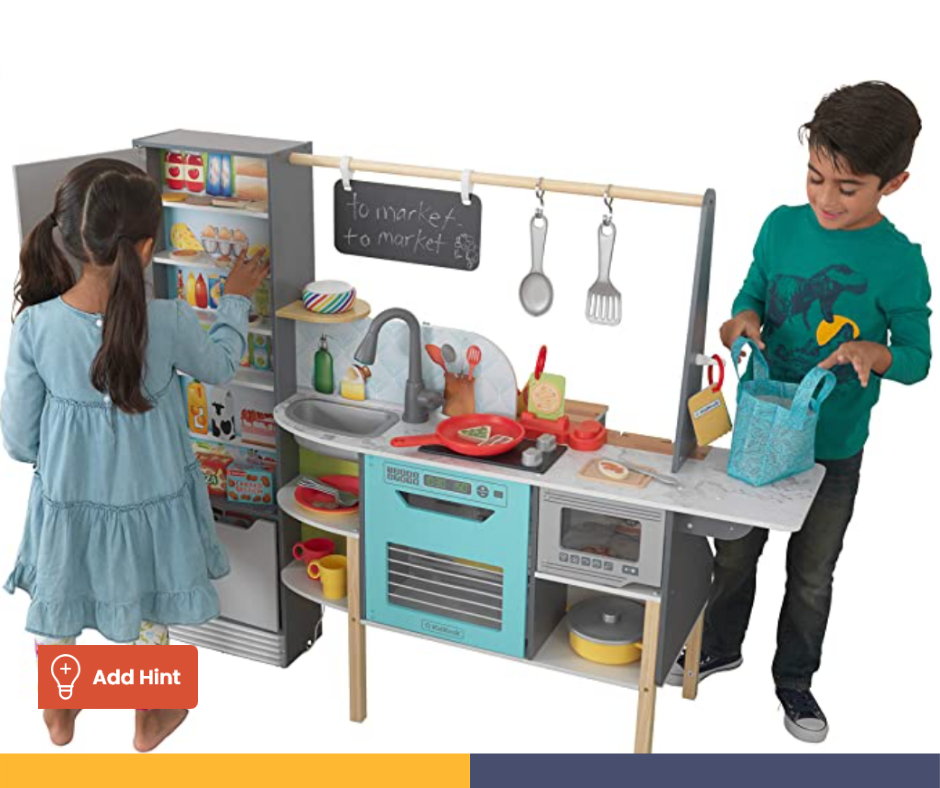 Alexa-Enabled Play Kitchen and Store