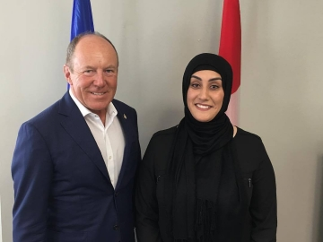 Great conversation with Parvin Sedighi from the MacEwan Students Association - August 11, 2017