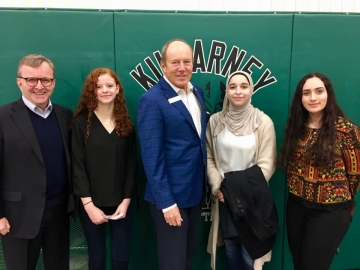 I had an amazing visit to Killarney Junior High School today where Senator Grant Mitchell and I gave a talk to Grade 9 students - February 8, 2019