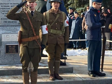 I loved the First World War uniforms today at the Beverly Cenotaph Remembrance Day ceremony where I gave a speech and laid a wreath - Nov. 11, 2018
