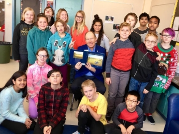 Reading to Grade 6 students at Beacon Heights School and talk about life as a Member of Parliament. Thanks for the great artwork  - November 16, 2018