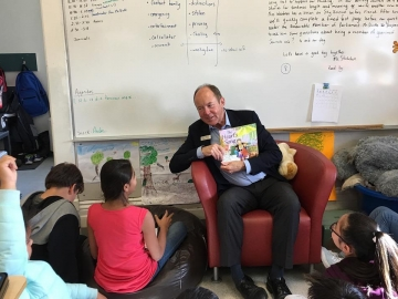 Reading to some very bright students at  Norwood School - October 11, 2018