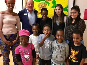 Visiting the Africa Centre's day camp - July 25, 2017