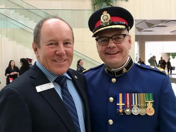 glad to attend the swearing-in ceremony for new Edmonton Police Service Chief Dale McFee - February 1, 2019