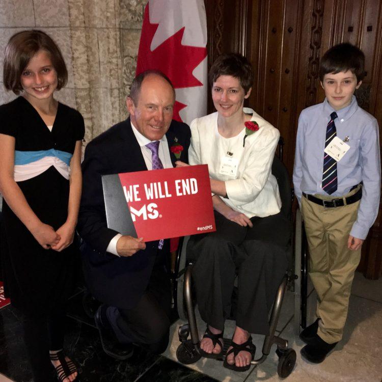 Kerry Diotte & MS Society Volunteers