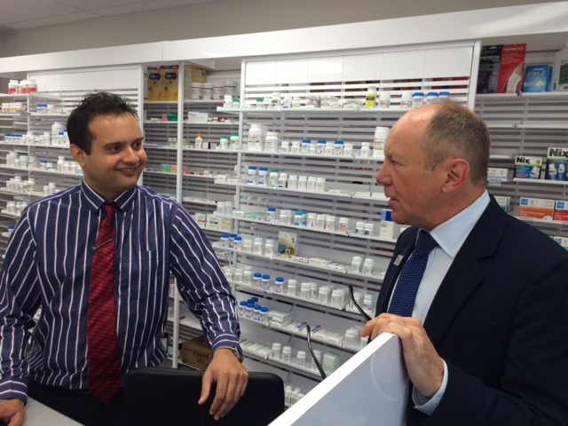 Kerry & Valay at the Medicine Shoppe Pharmacy Opening