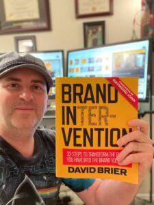 Branding Intervention book by David Brier