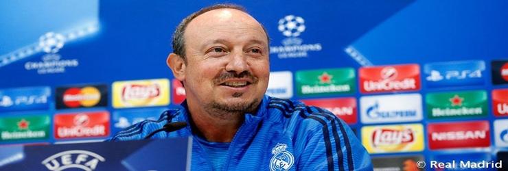 Rueda de prensa de Rafa Benitez previa al partido de UCL ante el Shakhtar