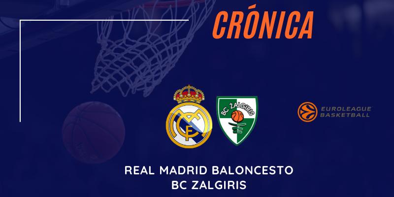 CRÓNICA   Renovación de Pablo y victoria del Madrid: Real Madrid Baloncesto 70 – 58 Zalgiris