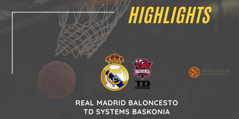 VÍDEO | Highlights | Real Madrid vs TD Systems Baskonia | Euroleague | Jornada 24