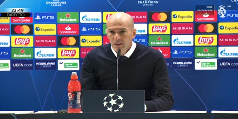 VÍDEO   Rueda de prensa de Zinedine Zidane tras el partido ante el Atalanta