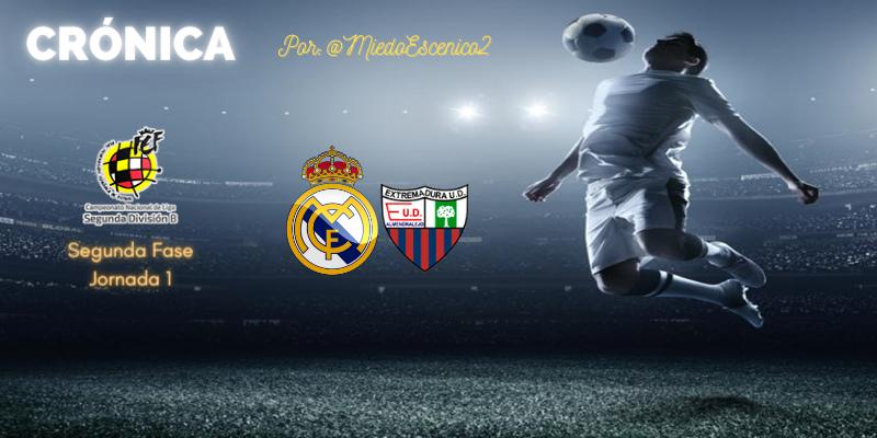 CRÓNICA   Un náufrago y nueve héroes: Real Madrid Castilla 1 – 1 Extremadura