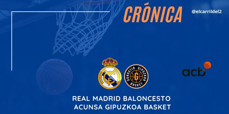 CRÓNICA | Tyus se reivindica: Real Madrid Baloncesto 97 – 71 Acunsa Gipuzkoa Basket