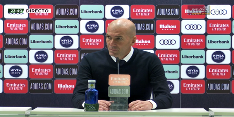 VÍDEO   Rueda de prensa de Zinedine Zidane tras el partido ante el FC Barcelona