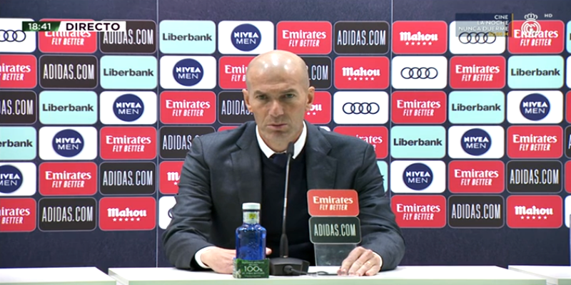 VÍDEO | Rueda de prensa de Zinedine Zidane tras el partido ante el Éibar