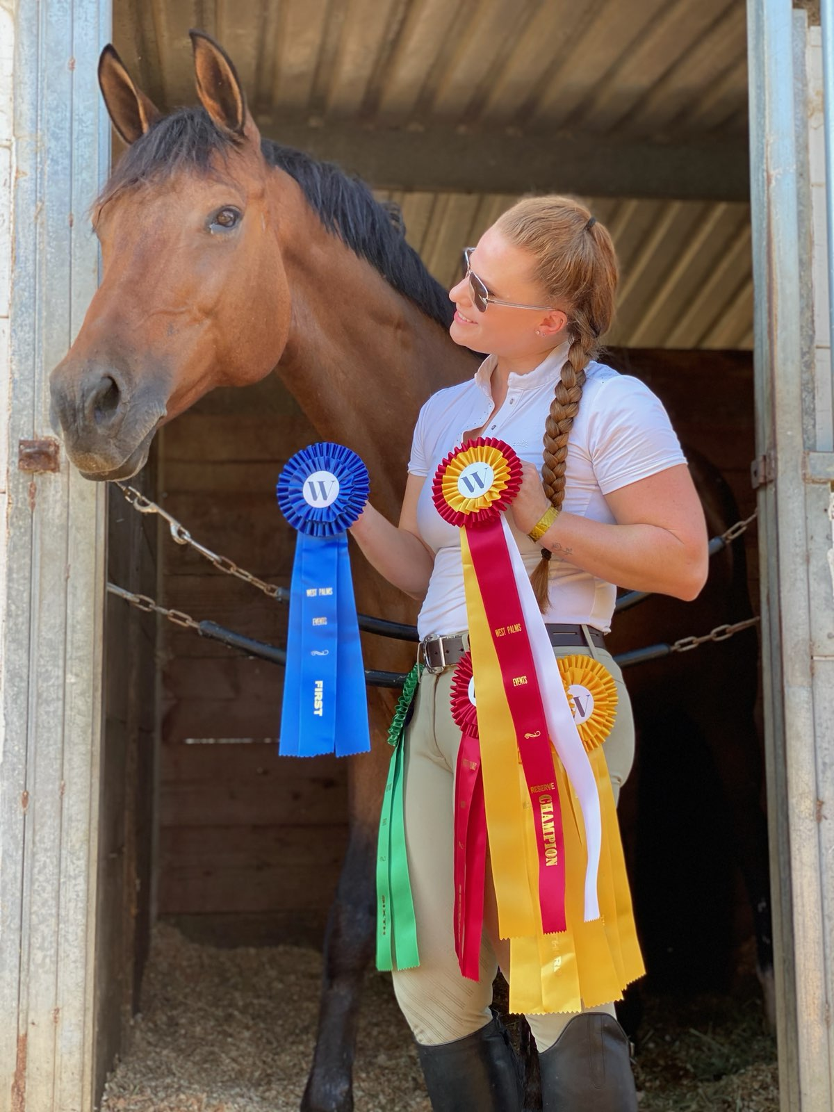 Allie with ribbons