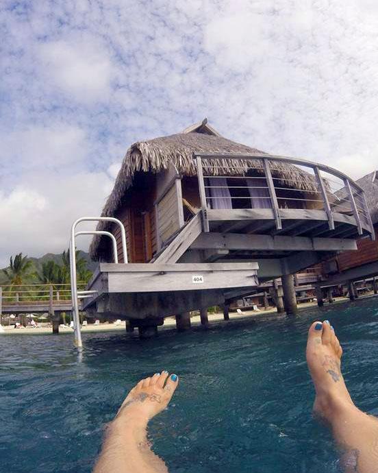 Analyst Aimee Sanfilippo in Tahitian Islands