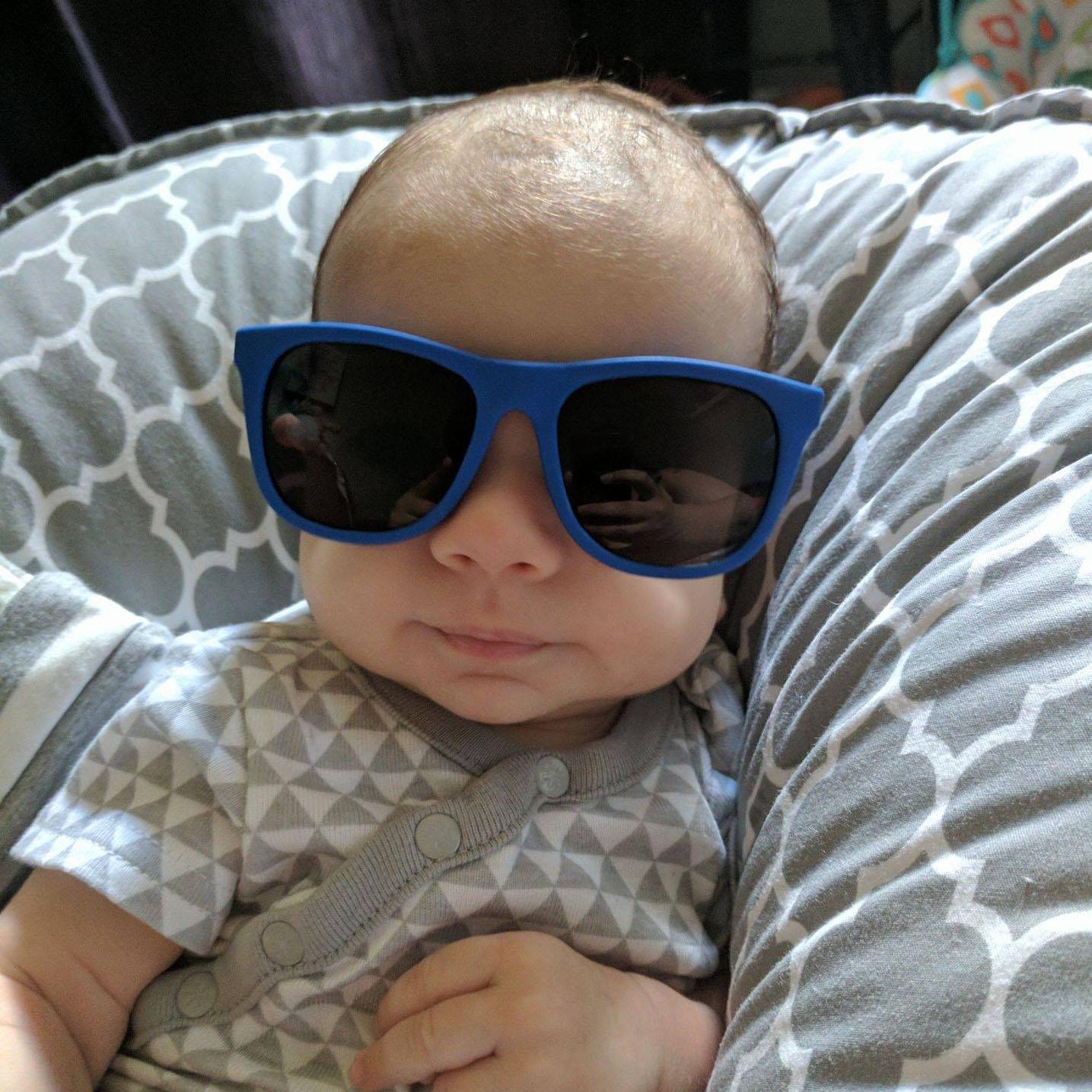 Analyst Aimee Sanfilippo Baby with Sunglasses