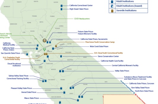 Map of California Correctional Institutions